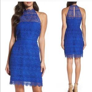 Bb Dakota Cara Lace Dress Blue 0